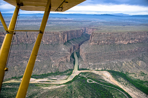 Aerial shot of Big Bend