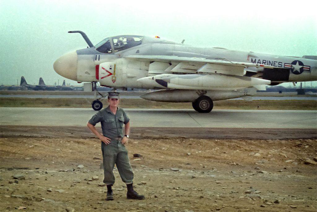 Philip in front of jet